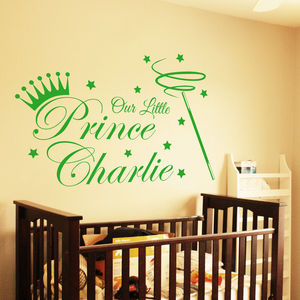 Our Little Prince Wall Sticker - wall stickers