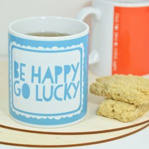 Be Happy Go Lucky Mug - kitchen
