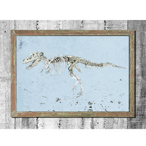 Hunting Dinosaur Print - children's pictures & paintings