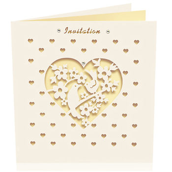 Pack Of Six Laser Cut Bird Invitations