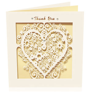 Thank You Laser Cut Card - thank you cards