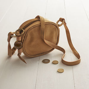 Daisy: Leather & Polished Horn Mini Shoulder - shoulder bags