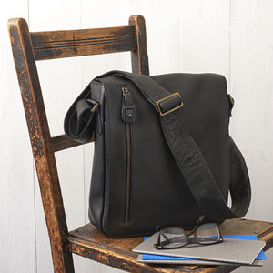 Unisex Leather Satchel - shoulder bags