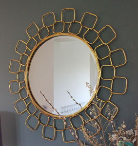 Gold Chain Link Mirror - mirrors