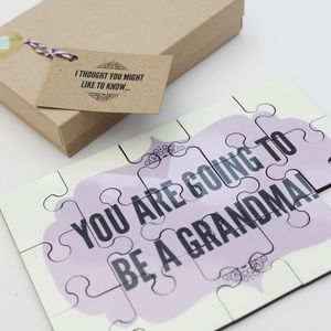 'I Thought You Might Like To Know' Personalised Jigsaw - announcement and gender reveal ideas