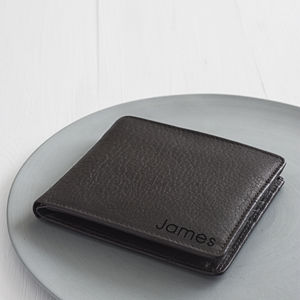 Personalised Corporate Gift Medium Leather Wallet