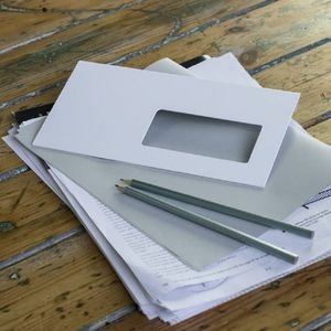 White Envelope Paperweight