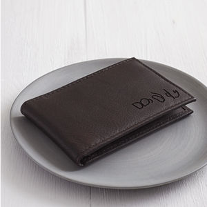Personalised Men's Mini Leather Wallet - gifts for fathers