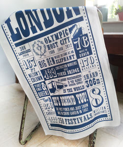 London Facts Tea Towel - kitchen linen