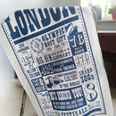 London Facts Tea Towel
