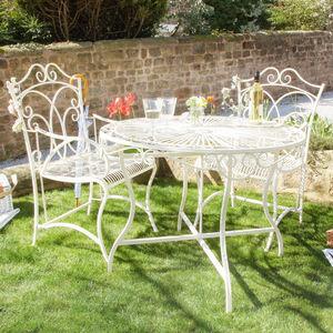 Cream Secret Garden Table And Chair Range