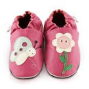Smiley Flower Soft Leather Baby Shoes