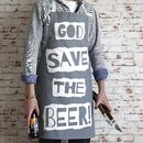 'God Save The Beer' Apron