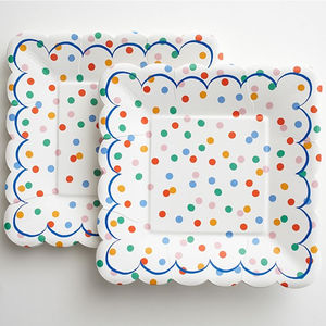 Polka Dot Party Plate Set Of 12 - shop by price