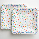 Polka Dot Party Plate, Large Set Of 12