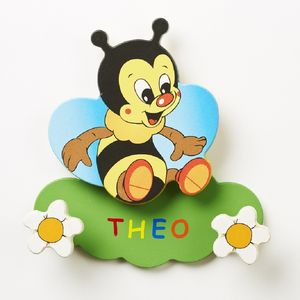 Buzzy Bee Room Peg Plaque