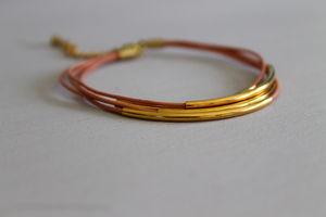 Multi Strand Coloured Leather Bracelet