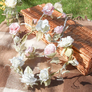 Vintage Heart Rose Wreath - flowers & plants