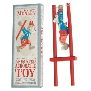 Retro Style Monkey Wooden Trapeze Toy - traditional toys & games