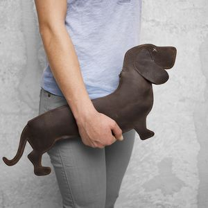 Leather Dachshund Bag