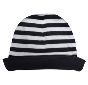 Stripy Organic Cotton Reversible Hat