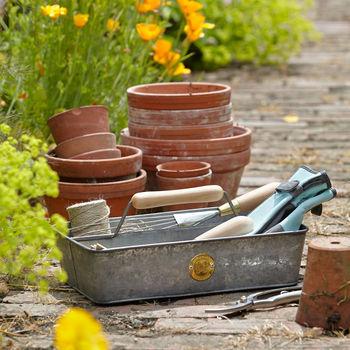 Handmade Galvanized Garden Trug