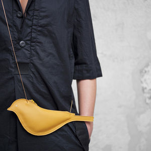 Bird Leather Bag With Shoulder Strap - festival fashion