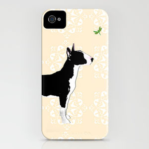 English Bull Terrier Dog On iPhone Case