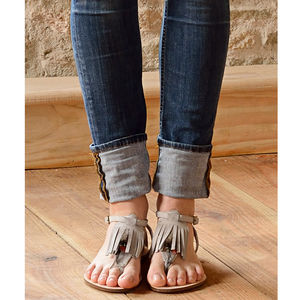 Tickle Suede Feather Sandals - shoes