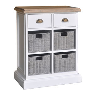 French Country Quad Basket Storage Chest