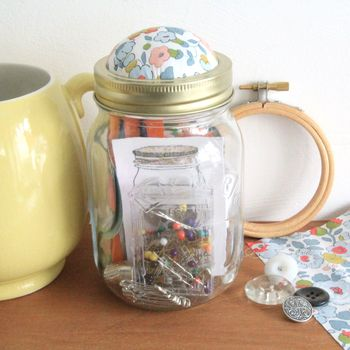 Liberty Fabric Kilner Jar Sewing Kit