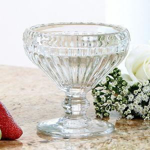 Rippled Glass Dessert Goblet