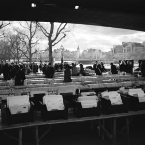 Book Market, London, Black And White Signed Art Print - architecture & buildings