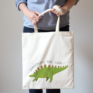 Dinosaurs Are Cool Stegosaurus Canvas Bag - bags & purses