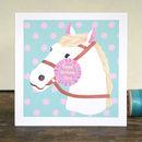Personalised Horse Birthday Card Pink Version