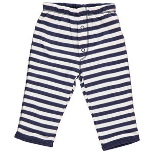 Stripy Organic Cotton Reversible Trousers - clothing