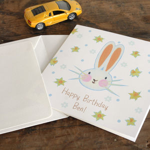 Personalised Easter Bunny Birthday Card - new baby & christening cards