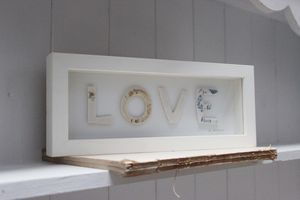 Framed Love Porcelain Letters
