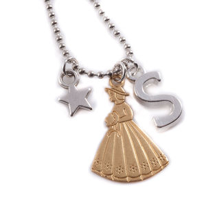 Personalised Bridesmaid Charm Necklace - wedding fashion