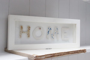 Framed Home Porcelain Letters - decorative letters