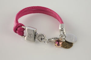 Personalised 'Rounder' Leather Bracelet - bracelets & bangles