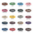 leather dog collar colour options