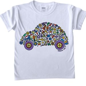 Colour In Car Child's T Shirt - toys & games