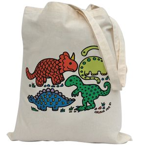 Colour In Dinosaurs Tote Bag