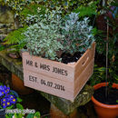 Personalised Square Planter Crate