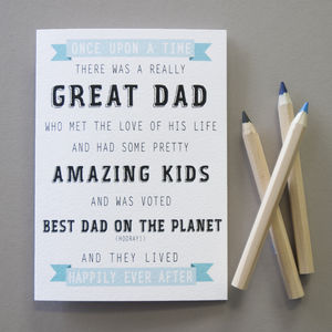 Personalised Great Dad Story Card