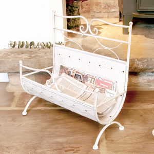 Antique Cream Magazine Store - magazine racks
