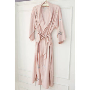 Bridal Wedding Dressing Gown Kimono Long Personalised - lingerie nightwear