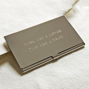 Business Card Holder - personalised gifts