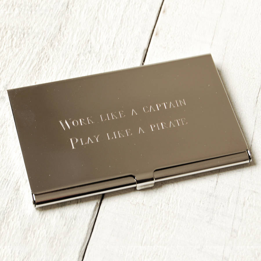 Personalised business card holder by highland angel personalised business card holder reheart Images